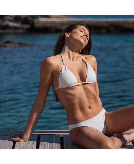 lurex white bikini